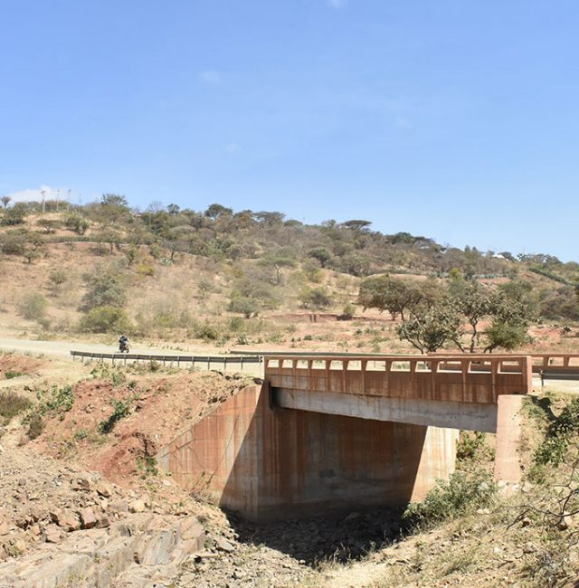 Bridge major repair works along Losinyai Njoro regional Road.
